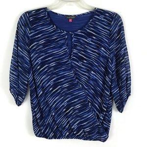 Vince Camuto Womens Shirt Size M Medium Blue